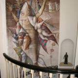 painting, sculpture & stairway 1